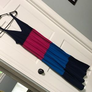 Faded Glory Large, color block maxi pink and blue